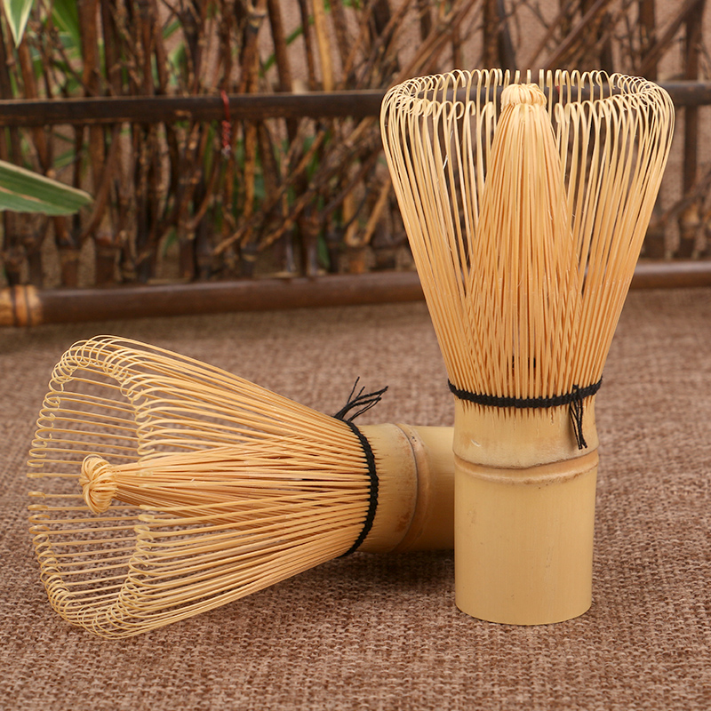 Japanese-Ceremony-Bamboo-Matcha-Practical-Powder-Whisk-80-100-Coffee-Green-Tea-Brush-Chasen-Tool-Grinder