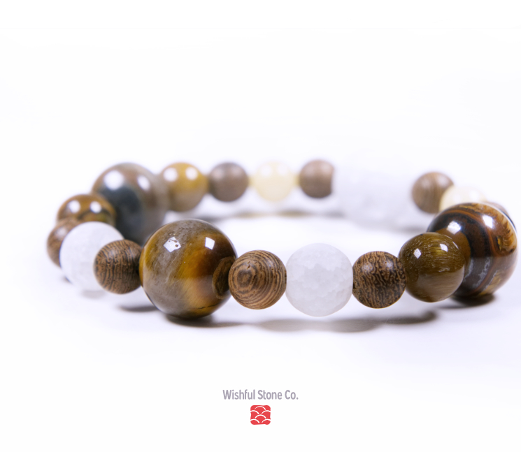 Wealth-attraction-healing-bracelet-with-tiger-eye-stone